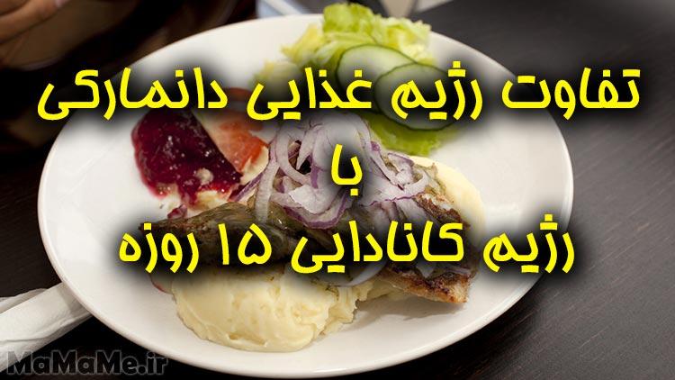 تفاوت رژیم غذایی دانمارکی با رژیم کانادایی ۱۵ روزه